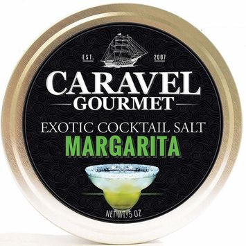 Margarita Exotic Cocktail Salt - All-Natural Glass Rimmer & Finishing Sea Salt, Solar-Evaporated and Hand-Harvested - No MSG, Non-GMO, Gluten-Free - 5 oz. Stackable Tin [Margarita]