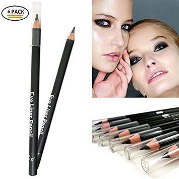 6 Pcs EyeLiner, Smooth Waterproof Cosmetic Beauty Makeup Eyeliner Pencil Black
