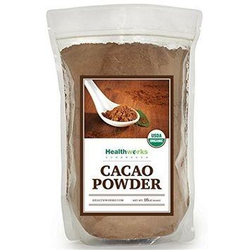 Healthworks Raw Certified Organic Cacao Powder 3 lb (48 oz) [name: size value: size-3lb(48oz)]