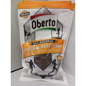 Oh Boy! Oberto Original Beef Jerky 9 Oz (Pack of 2)