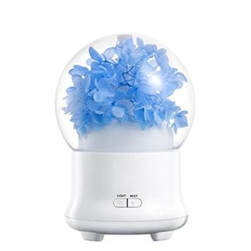 Ultrasonic Cool Mist Humidifier, Sandistore Beautiful Flower LED Diffuser Humidifier , Portable Personal Humidifier about 6 Hours , Automatically Shut-off , 7 Colors Changeable LED Light