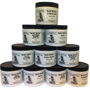 Windrift Hill 4oz Body Butter Moisturizing Lotion For Very Dry Skin (Fresh)