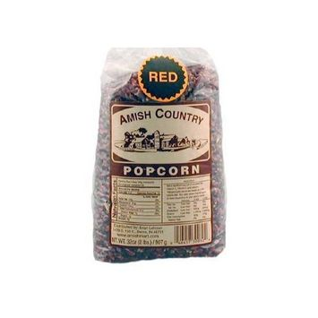 Amish Country Popcorn - Red Popcorn (2 Pound Bag) - Old Fashioned, Non GMO, and Gluten Free - with Recipe Guide