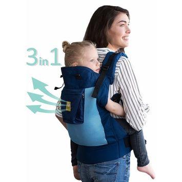 LÍLLÉbaby 3 in 1 CarryOn Toddler Carrier - Airflow, Blue Aqua
