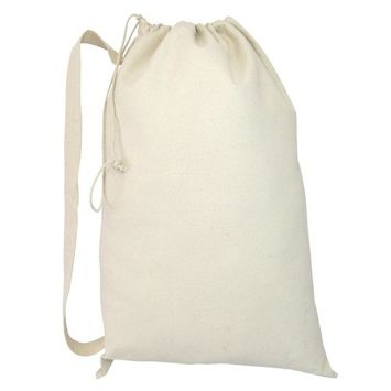 Heavy Duty Natural Cotton Canvas Laundry Bags (Natural) [name: actual_color value: actual_color-off-white]