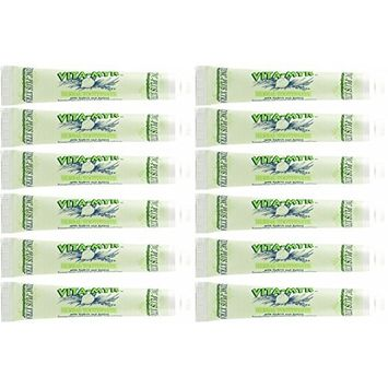 12 Pk VITA-MYR Herbal Zinc Plus XTRA Natural Toothpaste - Safe & Effective 5.4 oz - No Sugar, No Fluoride, No SLS, No Aspartame, No Saccharin w/ Xylitol & CoQ 10
