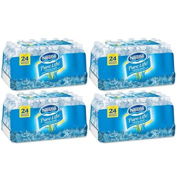 Nestle Pure Life Purified Water, 16.9 oz. Bottles, 4 Cases (24 Bottles)