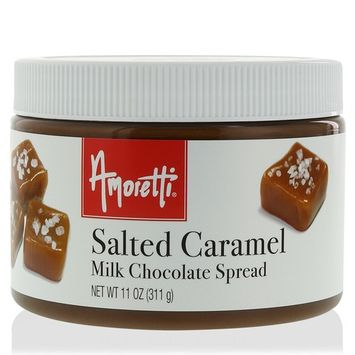 Amoretti Salted Caramel Spread, Milk Chocolate, 11 Ounce