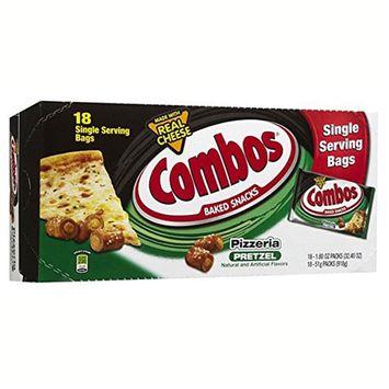 Combos Pizzeria Pretzel Baked Snacks 1.8 oz Bags *18