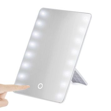 Creazy Portable 16 LEDs Lighted Touch Screen Makeup Cosmetic Vanity Mirror Tabletop