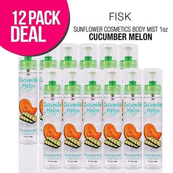 SUNFLOWER Cosmetics Body Mist 1oz(Cucumber Melon) : Beauty (12 PACK)
