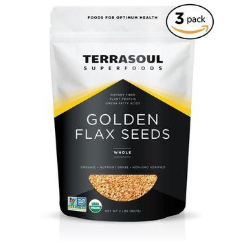 Terrasoul Superfoods Organic Golden Flax Seeds, 6 Pound [Golden]