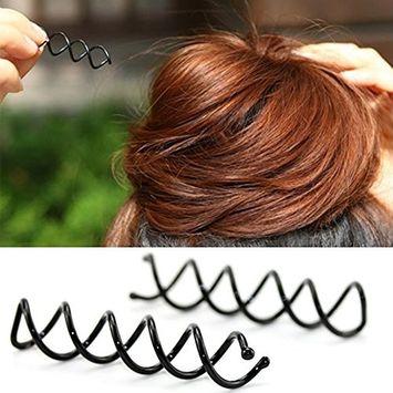 Healthcom 20 Pack Spiral Hair Pins Hair Styling Accessories Hair Pins DIY Spin Clip Twist Screw Hair Pins,Black