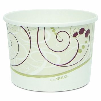 Solo P4643-J8000 64 oz Symphony Flexstyle DSP Paper Food Container (Case of 300)