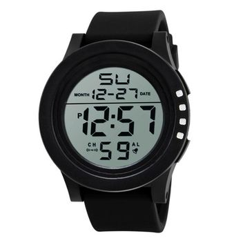 Creazy Sport Men's LED Waterproof Digital Quartz SKMEI Fashion Watch Military