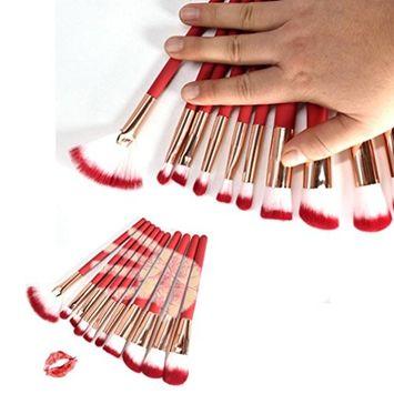 Creazy 10PC Temperature Makeup Brush Makeup Tools Foundation Makeup Brush