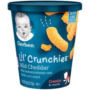 Gerber Lil' Crunchies Baked Corn Snack, Veggie Dip, 0.52 oz. Cup