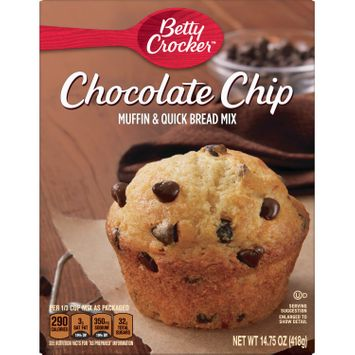 Betty Crocker Chocolate Chip Muffin and Quick Bread Mix, 14.75 oz