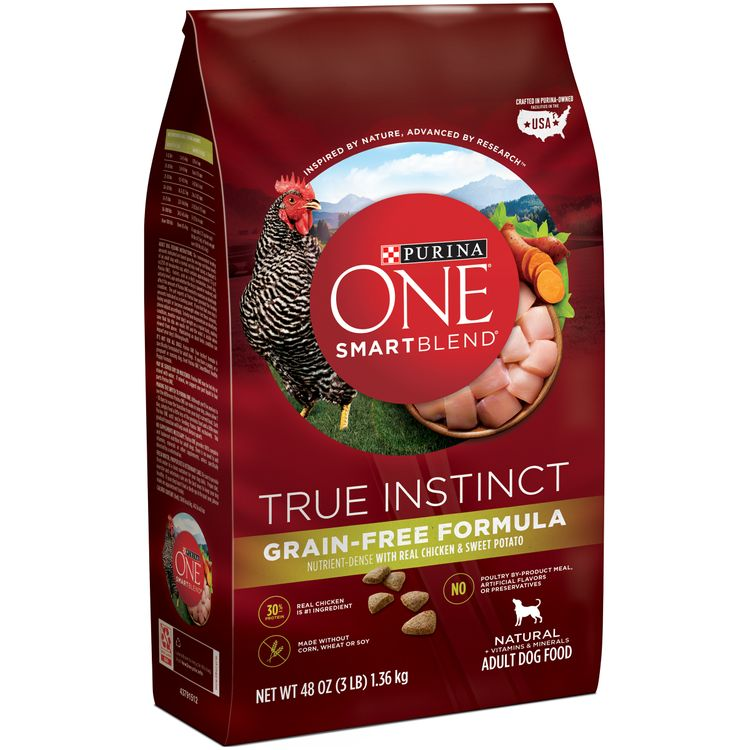 Purina ONE SmartBlend True Instinct Natural Grain-Free Formula with Real Chicken & Sweet Potato Adult Dry Dog Food