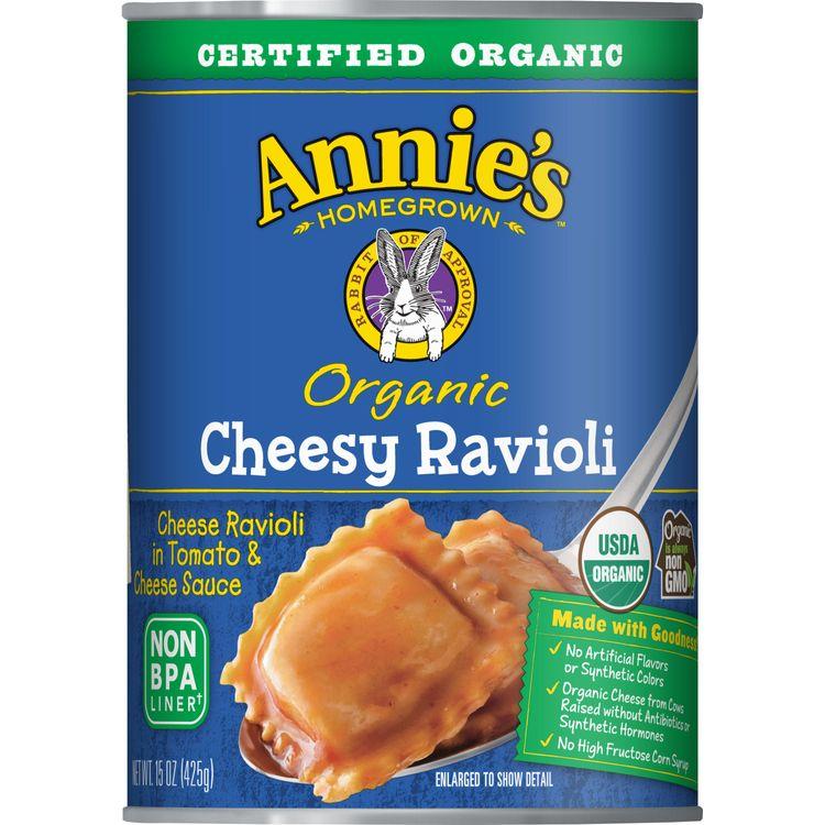 Annie's Homegrown Organic Cheesy Ravioli, 15 oz. Can