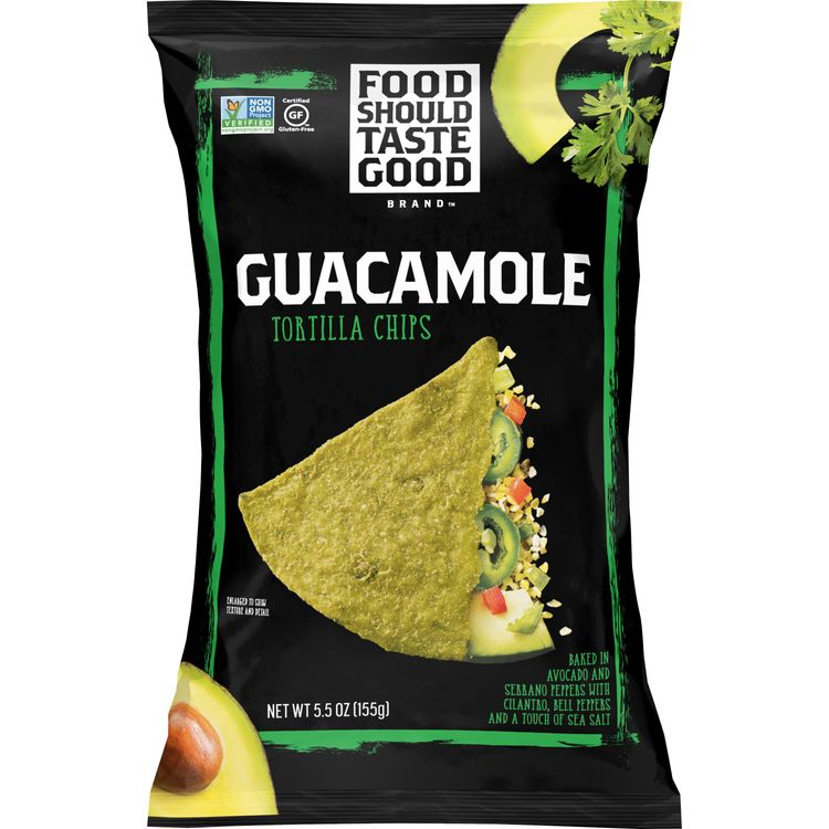 Food Should Taste Good Guacamole Tortilla Chips, Gluten Free, 5.5 oz