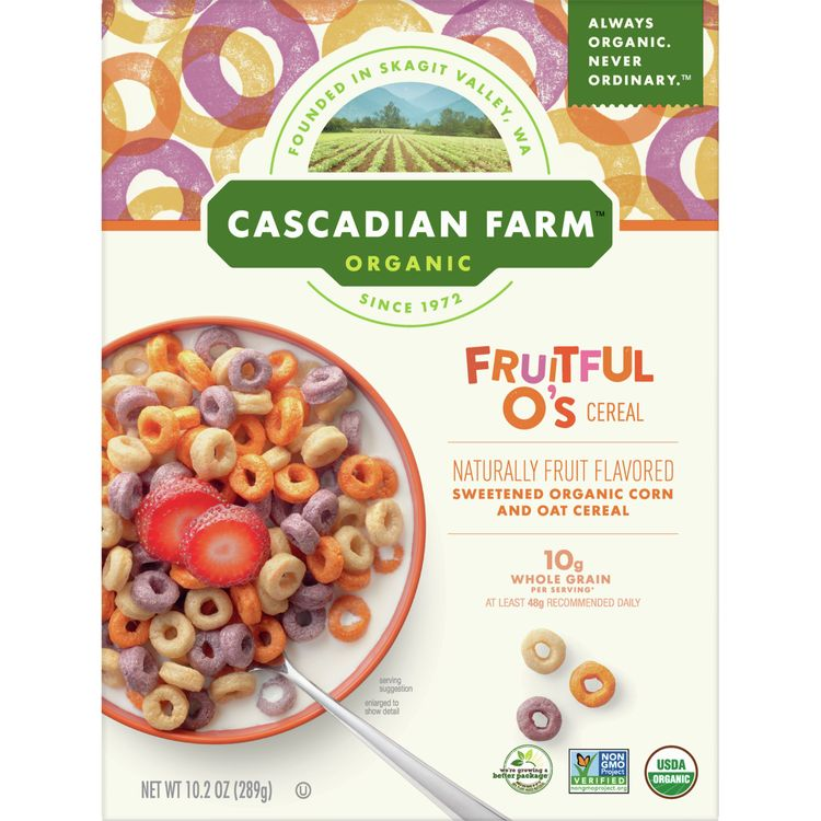 Cascadian Farm Organic Cereal, Fruitful O's, 10.2 oz
