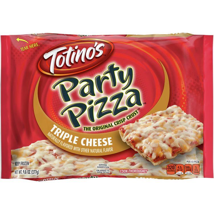 Totino's Triple Cheese Party Pizza, 9.8 oz
