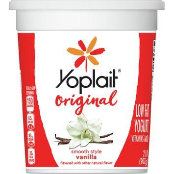 Yoplait Original Yogurt, Low Fat Yogurt, Vanilla, 32 oz Tub