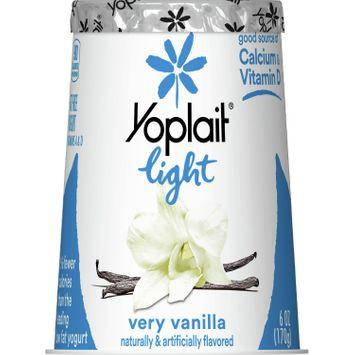 Yoplait Light Yogurt, Fat Free Yogurt, Very Vanilla, 6.0 oz