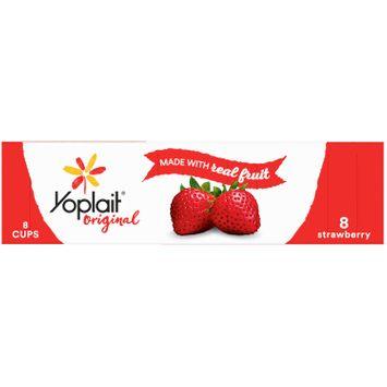 Yoplait Original Yogurt, Low Fat Yogurt, Strawberry, 8 Count