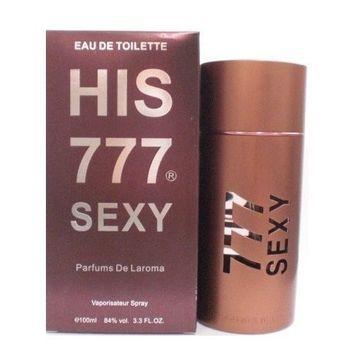 His 777 Sexy by Parfums de Laroma for Men 3.3 oz Eau De Toilette EDT Spray