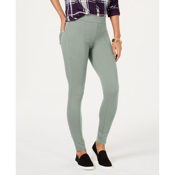 Petite Seam-Front Ponte-Knit Leggings, Created for Macy's