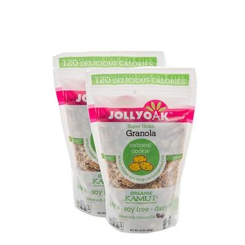 Jolly Oak Super Grain Granola, Oatmeal Cookie, Healthy Low Calorie Granola of toasted oats, organic KAMUT and touch of honey (Pack of 2)