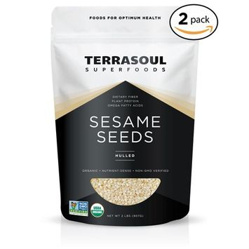 Terrasoul Superfoods Organic Hulled Sesame Seeds, 4 Pounds [White - Hulled]