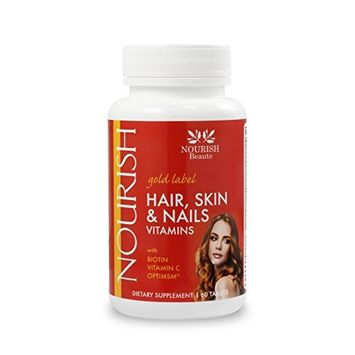 Hair Growth Skin and Nails Vitamins - (Biotin) Hair Growth Supplement - Pills, Gold Label, 60 tablets