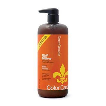 DermOrganic Color Care Shampoo with Sunflower Anti-Fade Extract - Sulfate-Free, 33.8 fl.oz.