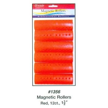 Annie Magnetic Rollers 12 Count Red 1 1/2