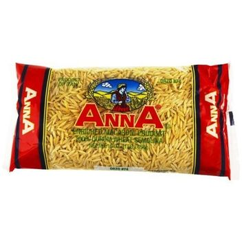 Anna Orzo #74 Pasta, 1 Pound Bags (Pack of 20)