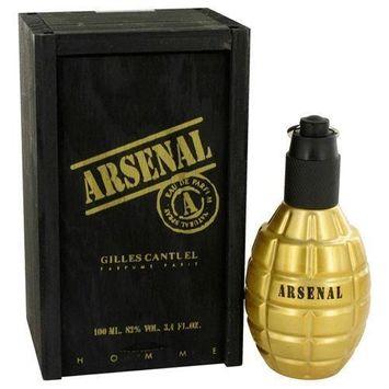 Arsenal Gold by Gilles Cantuel Eau De Parfum Spray 3.4 oz