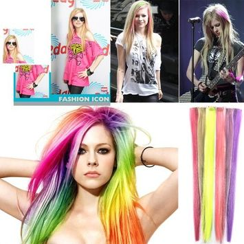 ECOSCO 24inches 24pc Assorted of colors Clips in Human Hair Extensions for Women's Beauty Hairsalon in Fashion
