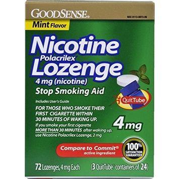 Good Sense Nicotine Lozenge Mint 4 Mg Case Pack 6