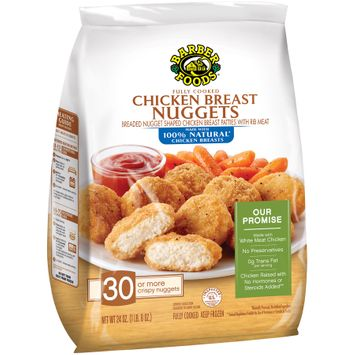 barber foods® fully cooked chicken breast nuggets