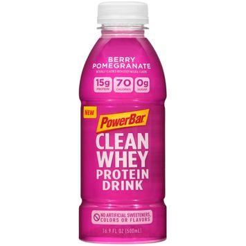 PowerBar Clean Whey Protein Drink Bottle Berry Pomegranate