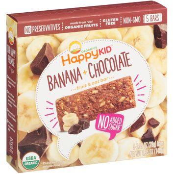 Happy Kid™ Banana + Chocolate Fruit & Oat Bars