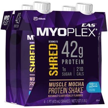 EAS® Myoplex® Shred Muscle Mocha Protein Shake 4-1 pt. Aseptic Packs