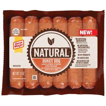 Oscar Mayer Natural Honey BBQ Uncured Pork Sausage 6 ct Pack