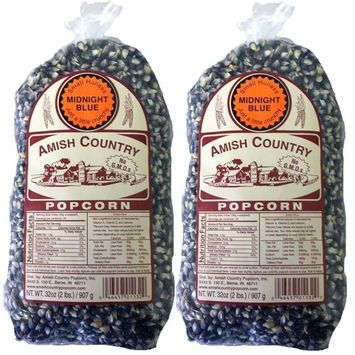 Amish Country Popcorn Midnight Blue Non GMO Small Hulless