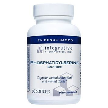 Integrative Therapeutics - Phosphatidylserine - Soy-Free - Promotes Cognitive Function and Mental Sharpness - 60 Softgels [Standard Packaging]