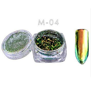Creazy 6 Colors Powder Flakes Nail Bling Mirror Shimmer Powder Nail Art Glitter Decora