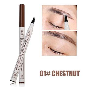 Liquid Eyebrow Pen,lotus.flower 3Colors Waterproof Long-Wear Makeup Tattoo Eyebrow Pen Waterproof Pencil Long Lasting Fork Tip Sketch